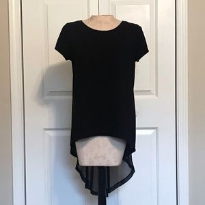 Forever 21 T-shirt with Cutout Sheer Tail